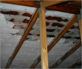 Ice build up in poorly vented attic